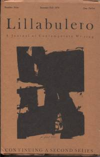 Lillabulero Number 9  Summer/Fall 1970; A Journal of Contemporary Writing