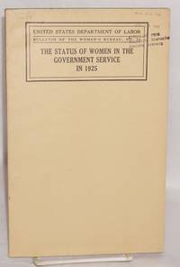 The status of women in the government service in 1925