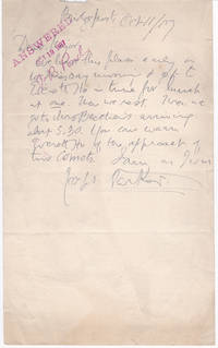 AUTOGRAPH LETTER TO THE MAJOR JAMES B. POND OF THE POND LECTURE BUREAU SIGNED BY ENGLISH CONGREGATIONAL THEOLOGIAN JOSEPH PARKER.
