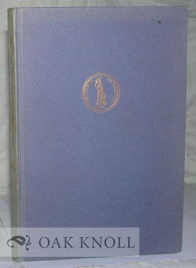 Charlottesville: University of Virginia, 1960. boards. Barrett, C. Waller. 8vo. boards. 35 pages. Pr...