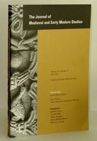 Journal of Medieval and Early Modern Studies, Volume 28, Number 3, Fall 1998; Special Issue: Body/Matter/Spirit