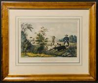[CURRIER & IVES pub] Quail Shooting. Setters Property of S. Palmer, Esq. Brooklyn, L. I.