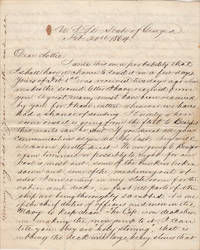 """image of THE IRON CLADS IN THE RIVER ARE ABOUT TO MAKE AN ATTACK ON US AND I SHOULD NOT BE SURPRISED IF THE SHOULD BE UPON US SOME STILL DARK NIGHT. . .. WE DON'T MEAN TO RUN AND GIVE UP THE BLOCKADE."""" Letter from the first African-American graduate of Yale who became the U.S. Navy's only African-American Ship's Surgeon during the Civil War"""