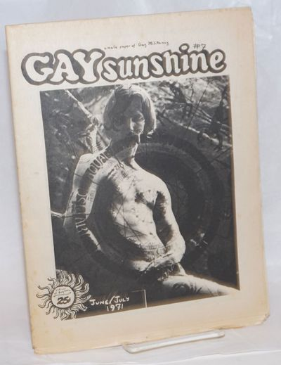 San Francisco: Gay Sunshine, 1971. Newspaper. 20p., folded tabloid newspaper, illustrations, poetry,...