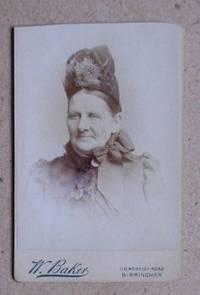 Carte De Visite Photograph. Portrait of an Old Woman.
