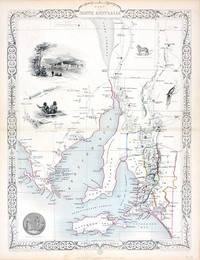 Part of South Australia, antique map with vignette views
