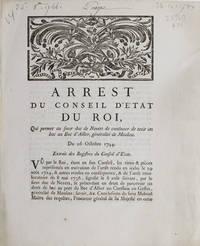Arrest du Conseil d'Etat du Roi, qui permet au sieur duc de Nevers de continuer de tenir un...