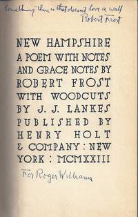 NEW HAMPSHIRE. A POEM WITH NOTES AND GRACE NOTES