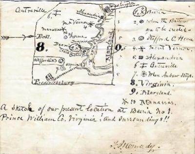 [CONFEDERATE MAP]. KENNEDY, Thomas...