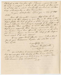 Director of Ordnance Defends Against Complicity in Loaning Gunpowder to DuPont and Private Individuals With Copy of his Prior Letter Informing Secretary of War John Calhoun of his Learning of - and Objection to - Such Loans