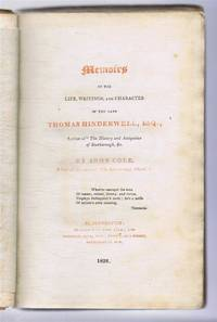 """image of Memoirs of the Life, Writings, and Character of the Late Thomas Hinderwell, Esq., Author of """"The History and Antiquities of Scarborough, &c"""" bound with The Fugitive Pieces of Thomas Hinderwell"""