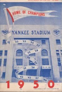 New York Yankees Scorecard August 9th, 1950. New York Yankees versus Boston Red Sox