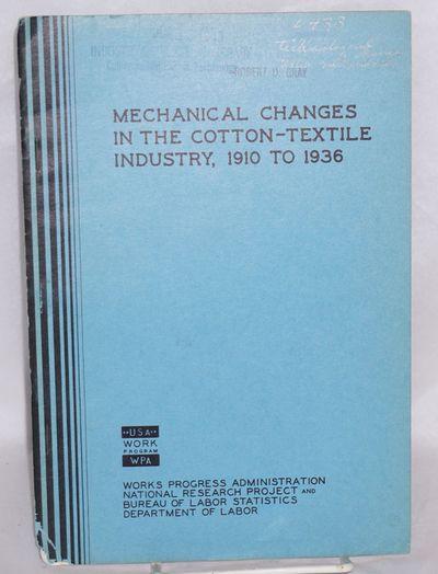Washington: GPO, 1937. 26p., edgeworn wraps, bottom left corner particularly worn, tables. Ex-lib, r...