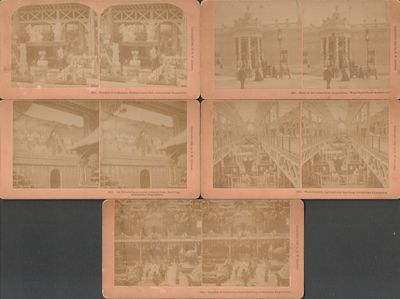 Litteton, NH: B. W. Kilburn. Good. 1893. Photograph. Set of five stereoviews depicting scenes from t...
