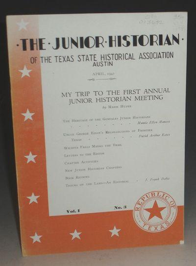 Austin: Texas State Historical Association, 1941. Small Quarto. Vol. I, No. 3. Dobie introduces the ...