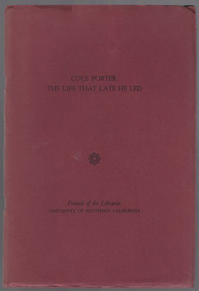 University of Southern California, 1967. Softcover. Near Fine. First edition. Octavo. 43pp. Stapled ...