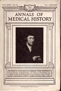 Annals of Medical History: Third Series Volume III (3), No. 5: September, 1941