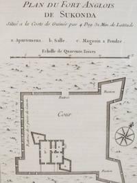 1747 Plan from Prevost's 'Histoire Generale des Voyages': Plan du Fort Anglois de Sukonda, Situe a la Coste de Guinee par 4. Deg. 32. Min. de Latitude