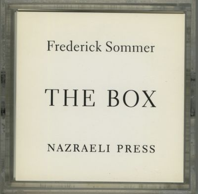 Munich: Nazraeli Press, 1994. First edition. Sommer, Frederick. Approximately 4 x 4 x 6 inches, with...
