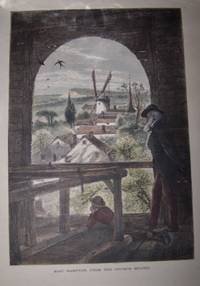 image of East Hampton, from the Church Belfry [ Hand-colored wood engraving ]