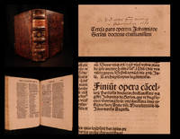 Tercia pars operum Johannis de Gerson doctoris chritianissimi by  Johannes de GERSON - Hardcover - 1494 - from Schilb Antiquarian Rare Books (SKU: 6891)