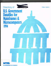 Directory of U.S. Government Datafiles for Mainframes & Microcomputers 1994