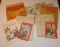 """image of ORIGINAL AUTOGRAPH MANUSCRIPTS by ERNEST PROTHEROE for the """"Iron Jelloids"""" editions of """"BUDGE AND BETTY"""" booklets """"ALL ABOARD THE SUNBEAM"""" and """"A FAIRY VOYAGE"""", together with ORIGINAL PEN & INK ART WORK and PROOFS of the illustrations for these books."""