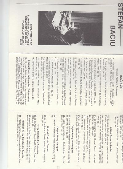 Honolulu: the author. 1978. First Edition; First Printing. Folded Broadside. Single 8½ x 12