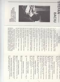 Bibliography of Stefan Baciu