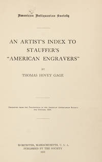 "An Artist's Index to Stauffer's ""American Engravers"""