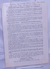 Napoleon and Chas. A. Dana on Interest [Jo Labadie association copy]