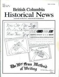 British Columbia Historical News: Volume 32, No. 1, Winter 1999