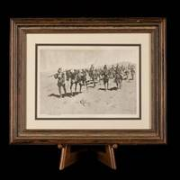 """A_Print of Frederic Remington's """"Coronado's March,"""" Signed by Him ."""