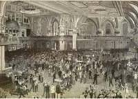 Recent Flurry in Wall Street - A Busy Morning in the Stock Exchange by  artist Wall St.  Charles Broughton - 1893 - from Antipodean Books, Maps & Prints and Biblio.com