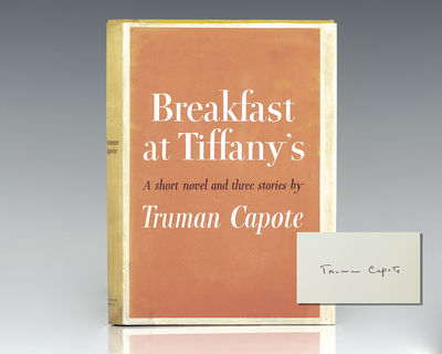 New York: Random House, 1958. First edition of Capote's seductive, wistful masterpiece. Octavo, orig...