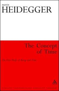 image of The Concept of Time: The First Draft of Being and Time