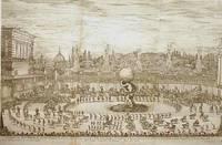 Entree du Prince di Toscane, Representant Hercul].  Etching, 1661. from the festival book Il mondo festiggiante