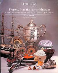 Sale 5297 the 14,15 & 16th February 1985: Property from the Fowler Museum  Sold for Benefit of the University of California, Los Angeles.