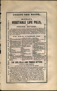 image of Moffat's Pills. Handbill with New York street map showing shop location