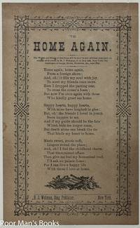 3 VICTORIAN SONG SHEETS AULD LANG SYNE HOME AGAIN MY COUNTRY 'TIS OF THEE  BROADSIDES
