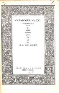 Catalogue XVI/1958: Containing Old & Rare Books.