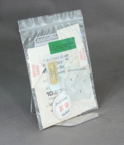 , 1993. Ziploc plastic bag, approx. 9