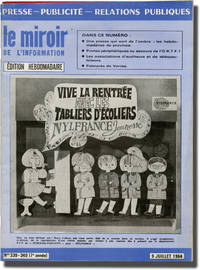 image of le miroir de l'information (Collection of four French press relations magazines)