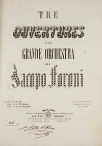 Tre Ouvertures per Grande Orchestra ... No. 1 [-3] ... Ciascuna Fr.10