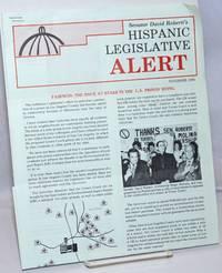 image of Senator David Roberti's Hispanic Legislative Alert November 1986