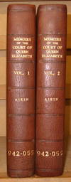 Memoirs of the Court of Queen Elizabeth by Aikin Lucy - Hardcover - Second Edition - 1818 - from George Jeffery Books and Biblio.com