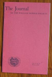 The Journal of the William Morris Society Volume IV Number 4 Winter 1981
