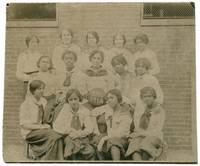[Portrait Photograph]: B.H.S. Black Women's Basketball Team