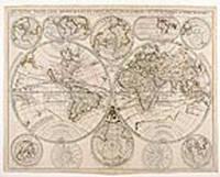 Le Globe Terrestre Representé En Deux Plans-Hemispheres Et En Diverses Autres Figures