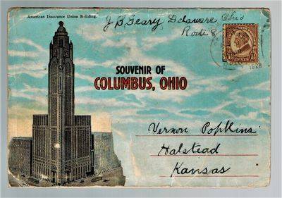 Columbus, OH: W. S. Harriman, 1928. Uncommon postcard packet of 20 different views and buildings in ...